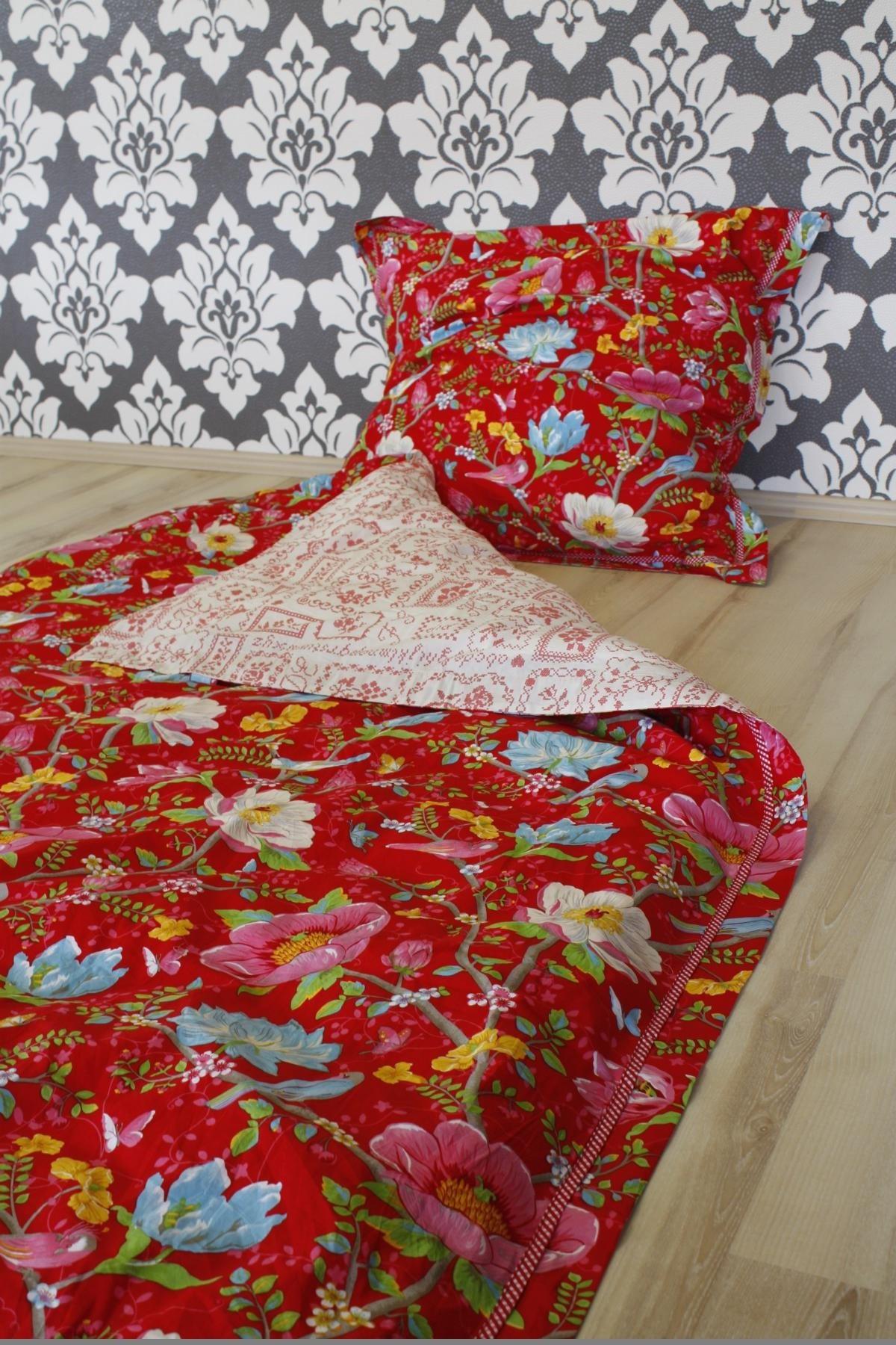 pip studio bettw sche chinese garden red rot 2 teilig 135x200cm 80x80cm kissen ebay. Black Bedroom Furniture Sets. Home Design Ideas