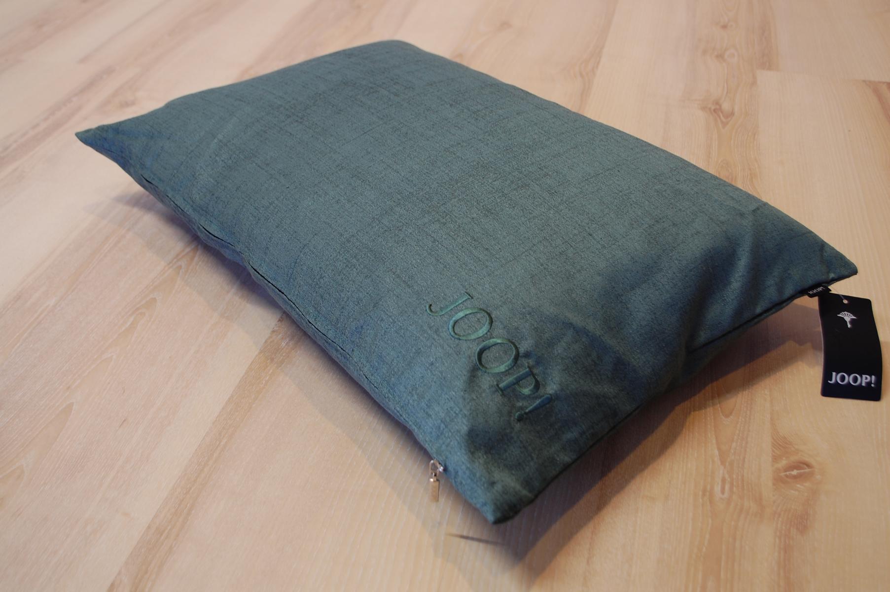 joop kissen texture 70522 096 petrol 40x60 cm inkl federf llung ebay. Black Bedroom Furniture Sets. Home Design Ideas